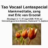 Klankmeditatie en zang met Eric van Grootel, Lentespecial drie dinsdagavonden door Eric van Grootel, Bearclaw