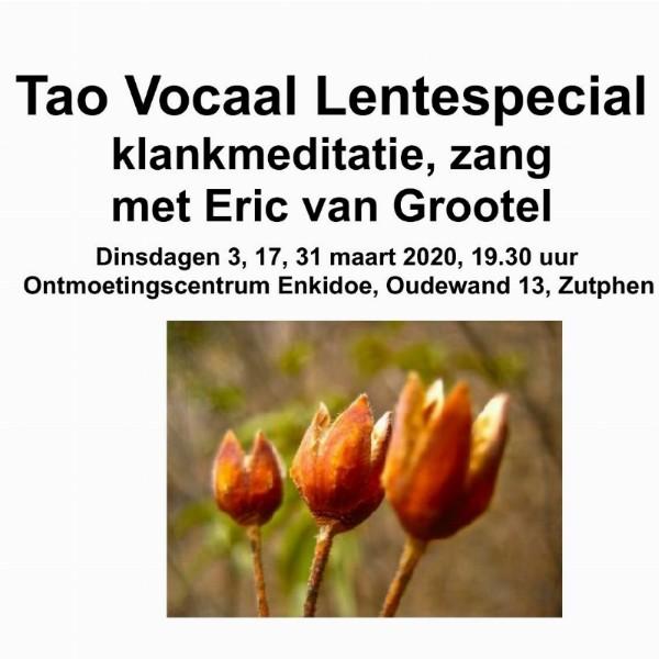 Klankmeditatie en zang met Eric van Grootel, Lentespecial drie dinsdagavonden | Zutphen