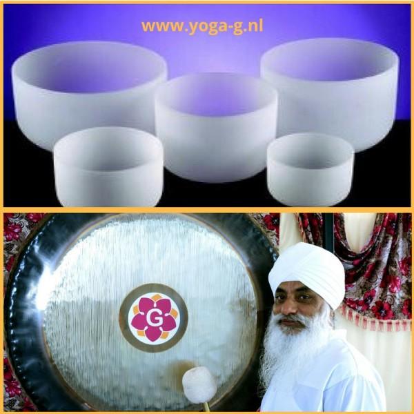 Kristallen klankschalen en gong meditatie healing | Amersfoort