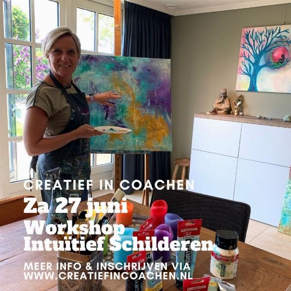 Workshop Intuïtief Schilderen | Ontdek je eigen creativiteit | Nes aan de Amstel (amstelveen)