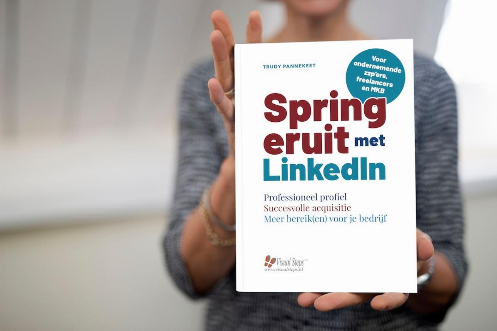 Boeklancering Spring Eruit met linkedin, praktische linkedin handleiding voor bewuste ondernemers