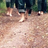Bewuste wandeling op blote voeten!
