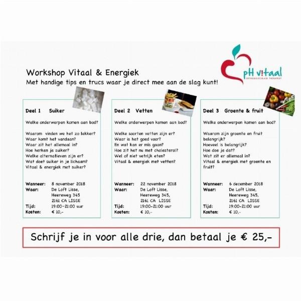Workshop Vitaal & Energiek | Lisse