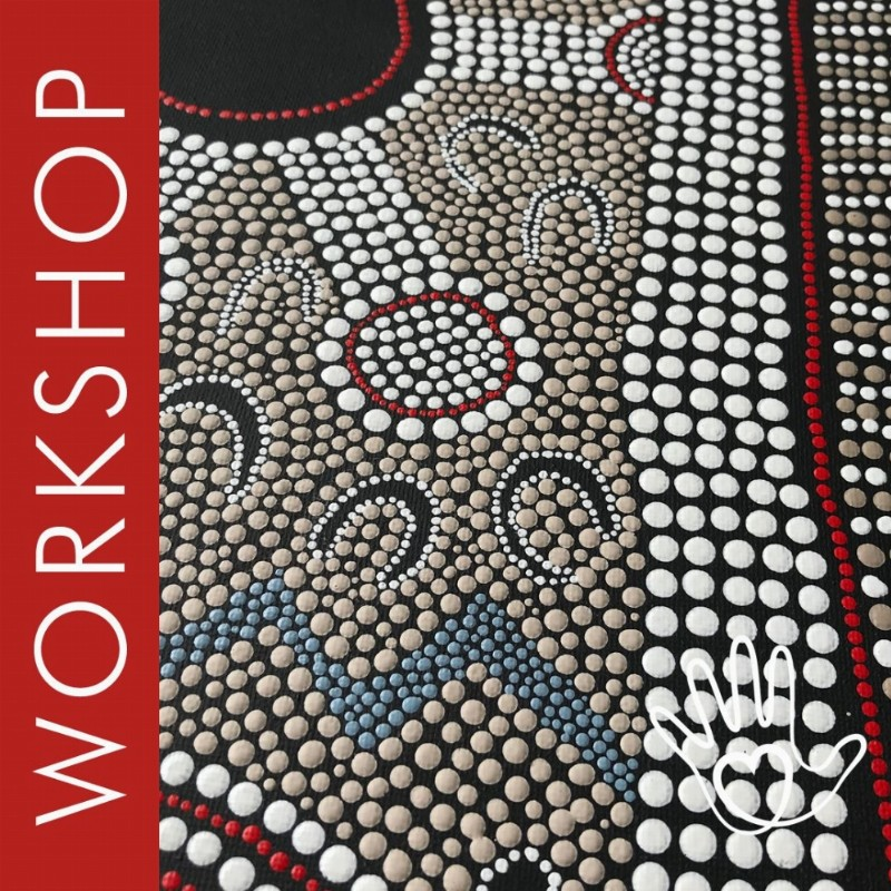 Workshop 'Aboriginal Dot Art op Canvas' | Leiden
