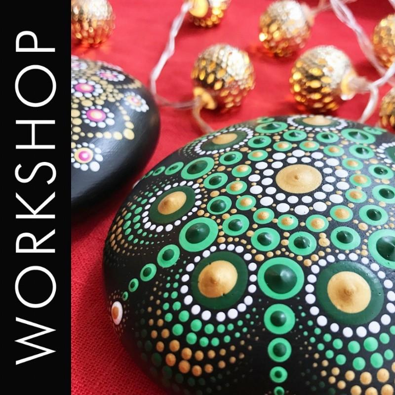 Dotpaint Workshop 'Kerstster op Steen Dotpainten'   Oegstgeest