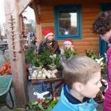 Kerstmarkt door