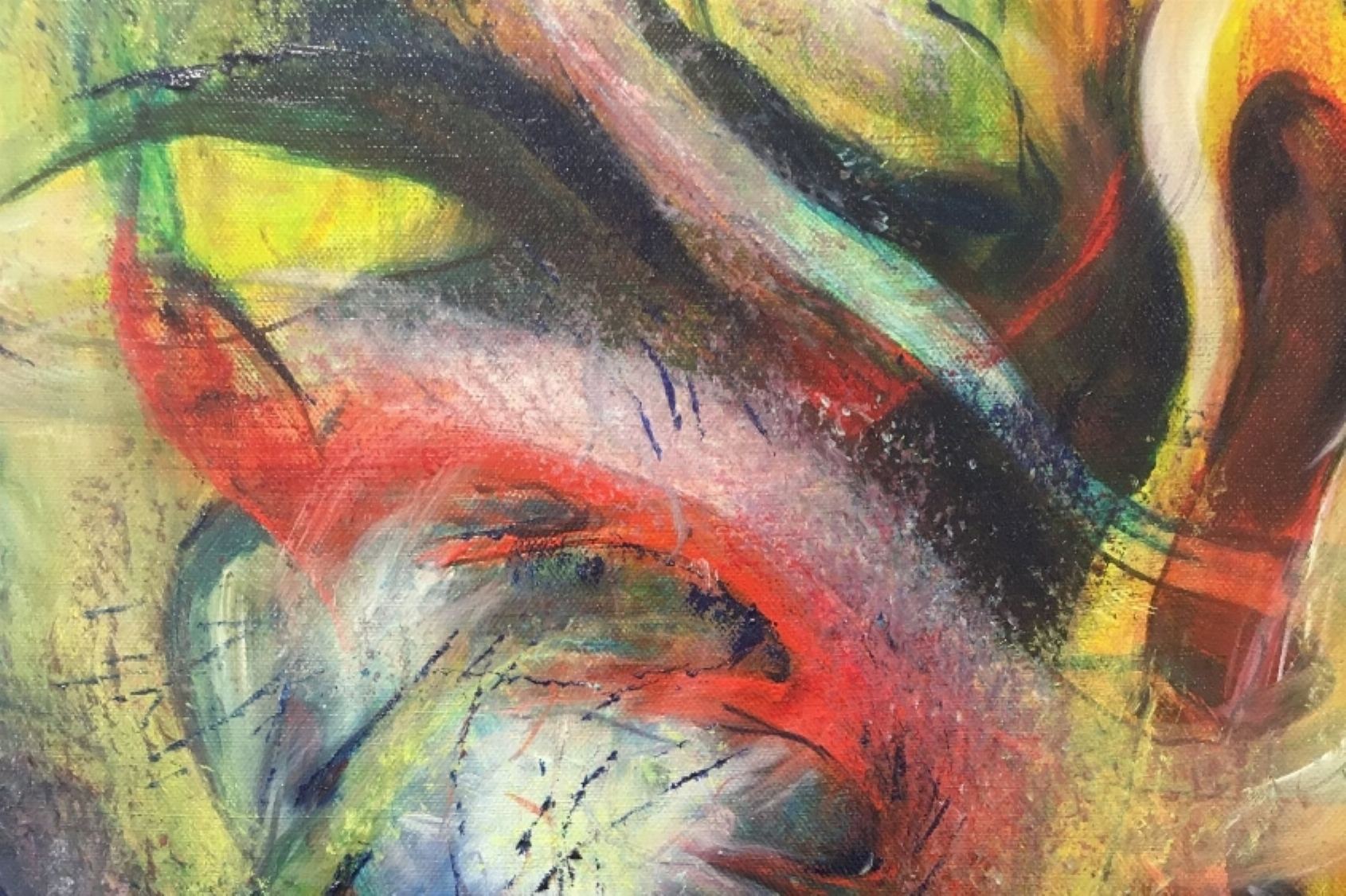 Schilderlessen 'Abstract ' en 'reset jouw creativiteit'