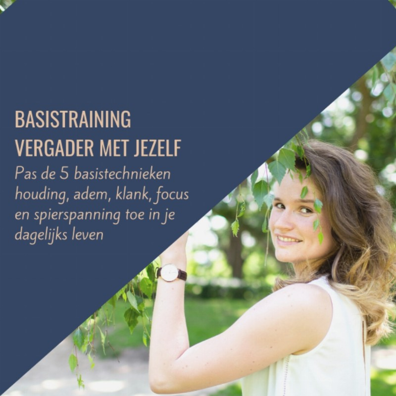 Vergader met Jezelf - Basis Training (5 sessies) | Online via Zoom
