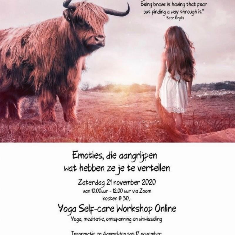Yoga Self-care Workshop: Emoties wat vertellen ze jou | Online via Zoom
