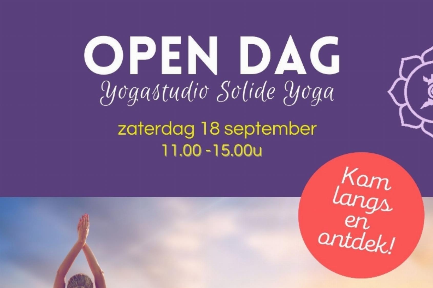 Open Dag Yogaschool Solide Yoga